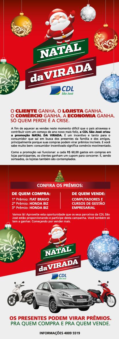 0c5d652567 CDL lança campanha para estimular as vendas no Natal de São José ...